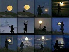 Speel met de maan
