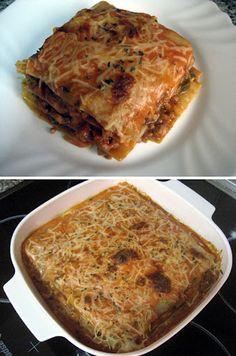 Lasaña De Carne y Verduras. Recetas, Recipes, Food, gastronomía, cocina...