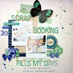 Scrapbooking fills my days... by Anke Kramer at @Studio Calico