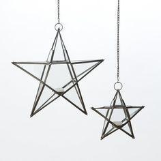 Star Votive Lantern, beautiful hanging in front of window in group