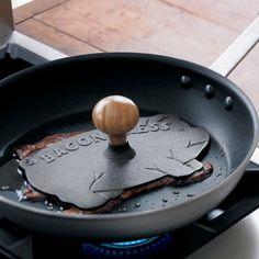 A bacon press. Brilliant.