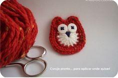 coruja de, crochet tutorials, crochet item, crochet christmas, crochet owls, crochet aplicacion, crochet diy, crochet patterns, crochet owl tutorial