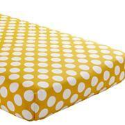 yellow & white polka dot crib sheets