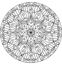 Mandalas...  Nevermind the kids, I might even have fun coloring this.  :)