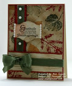 The Stampin' Schach: Gratitude for The Paper Players