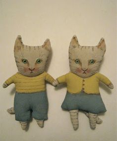 cat art dolls by ..........{ copyright } Sandy Mastroni