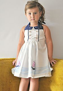 Out to Sea Fabric by Sarah Jane: Sailor Dress