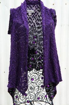 DECREE Knit Purple Shrug Sweater Size M/M