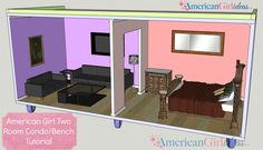 American Girl Dollhouse Bench
