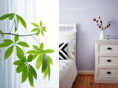 * Nicest Things: Nordic Style Bedroom lavender walls