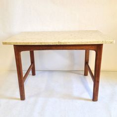 Danish Marble Top Side Table