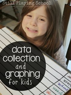 Introducing Data Collection and Graphing to Kids from Still Playing School #math #graph #kids #lesson #elementary preschool math, play school, preschool idea, kid