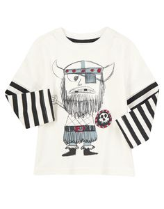 Viking graphics that look drawn on add totally rad style to a comfy tee.