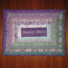 Shabbat Shalom Lavender Jewish Challah Cover #Jewish gifts by Judaic Fancywork
