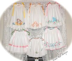 Vintage pillowcases make beautiful sun dresses ... for my neices!