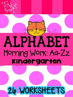 New Product GIVEAWAY!!!! Enter for your chance to win 1 of 3.  Alphabet Morning Work: Aa-Zz (Kindergarten) (28 pages) from Pink at Heart on TeachersNotebook.com (Ends on on 9-26-2014)  Win my newest product: Alphabet: Morning Work (Aa-Zz) for Kindergarten!  26 pages to find, color, trace, write and draw the letters!  Enjoy and Good Luck!