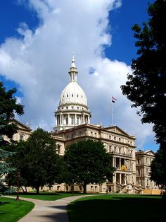 The State Capitol of Michigan. The Gardens - Lansing, Michigan