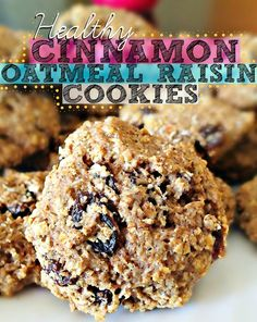 65 Calorie Healthy Cinnamon Oatmeal Raisin Cookies!