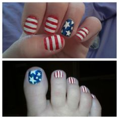 4th if July nails