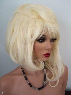 Asymmetrical Pageboy Drag Wig, Drusilla in Pale Blonde
