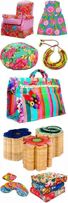 Chita fabric from Brazil. Mmmm!