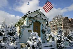 Santa's House in Shain Park, Birmingham, MI