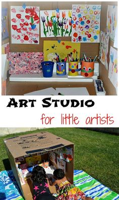 Easy to create art studio for kids...Fun for all ages #artprojects #diy from www.blogmemom.com