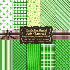 St Patricks Digital / Saint Patricks Paper / St by CandyBoxDigital, $5.00
