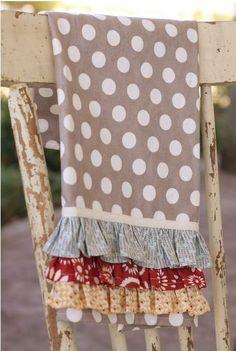DIY Ruffle Dish Towels