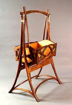 Art nouveau cradle art deco, art nouveau