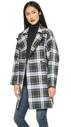 McQ - Alexander McQueen Plaid Trench Coat
