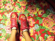 Check out these shoes made from chita fabric!  This looks just like Heather Bailey's prints?