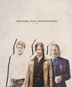 catch fire, the hunger, catching fire, katniss and haymitch, hunger game, pin, drink, hunt, odd