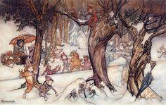 Winter Frolic, 1924 Christmas issue of 'Pear's Children's Magazine'