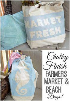 Easy Chalky Finish Farmers Market Bag & Beach Bag!