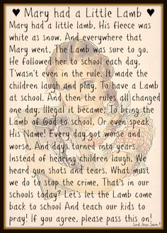 """♥ Mary Had A Little Lamb ♥ John 1:29 - The next day John saw Jesus coming toward him, and said, """"Behold! The Lamb of God who takes away t..."""