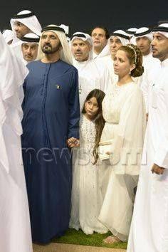 Mohammed Bin Rashid Bin Saeed Al Maktoum, Al Jalila Bint Mohammed Bin Rashid Al Maktoum and Haya Bint Al Hussein, DWC, 2014. Shared by: Noor Jo