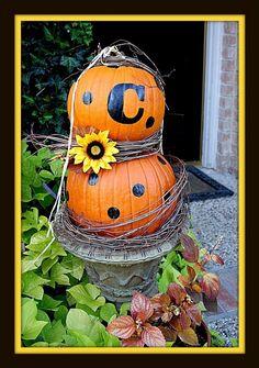 love this monogram pumpkin!