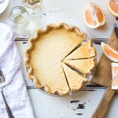 The Bojon Gourmet: Grapefruit Custard Pie {Gluten-Free}