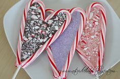 Candy cane heart candy