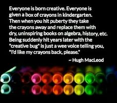 Everyone is born creative...