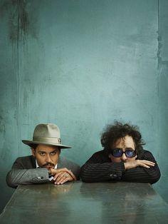 Johnny Depp and Tim Burton by Marc Hom