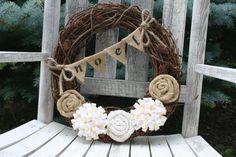 christma wreath, christmas wreaths, burlap wreaths, burlap christmas, natural colors, vine, aunts, felt flowers, the holiday