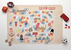 'Go for Gold!' Board Game :: Free Printables :: Tinyme.com