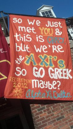 Alpha Xi Delta Banner at Marietta