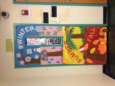 Preschool door! Great idea!