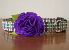 probably the cutest dog collars ever! Nobody would mistake our Lettie Girl for a boy if she was wearing one of these!