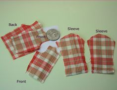 Make a Doll's Shirt With Long Sleeves For Any Size or Shape of Doll Using Custom Sloper Patterns doll shirt, girl pattern, doll pattern