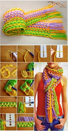 Fashionable Knitted Scarf – DIY