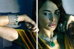 Ayesha Thapar models #Jewelry  for @VogueIndia